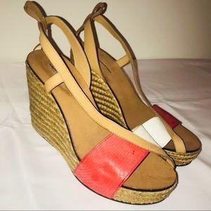 SEE BY CHLOE Two Toned Espadrille Wedge Heels